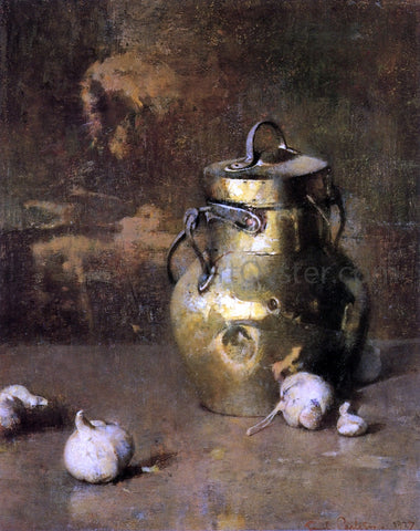 Emil Carlsen Brass Jar with Onions - Hand Painted Oil Painting
