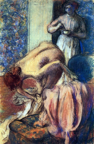 Edgar Degas Breakfast after Bathing (also known as The Cup of Coffee) - Hand Painted Oil Painting