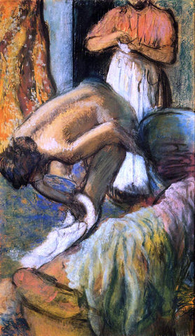Edgar Degas Breakfast after the Bath - Hand Painted Oil Painting