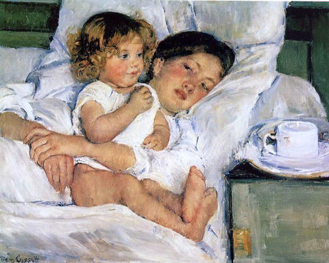 Mary Cassatt Breakfast in Bed - Hand Painted Oil Painting