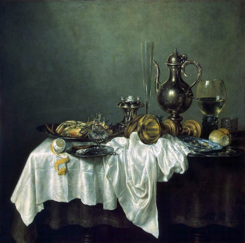 Willem Claesz Heda Breakfast of Crab - Hand Painted Oil Painting
