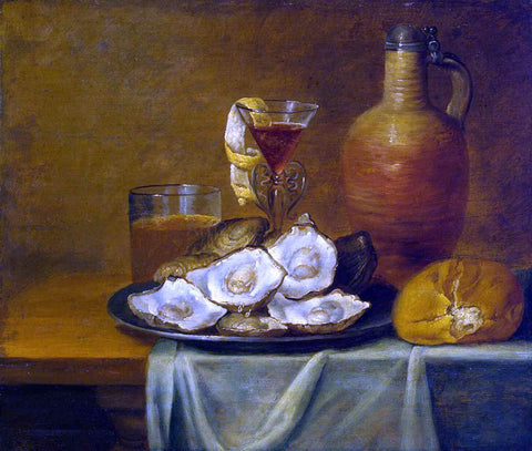 Jacob Van Es Breakfast with Oysters - Hand Painted Oil Painting