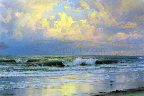 William Trost Richards Breaking Waves - Hand Painted Oil Painting