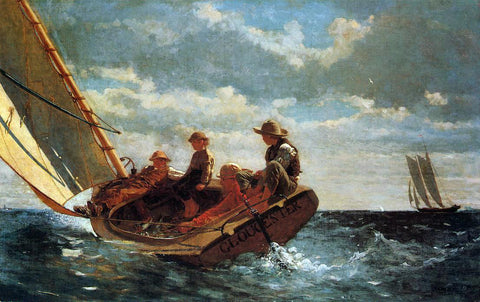 Winslow Homer Breezing Up (also known as A Fair Wind) - Hand Painted Oil Painting