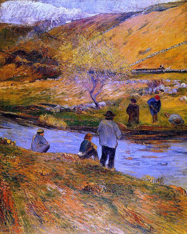 Paul Gauguin Breton Fishermen - Hand Painted Oil Painting
