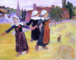 Paul Gauguin Breton Girls Dancing (also known as Dancing a Round in the Haystacks) - Hand Painted Oil Painting