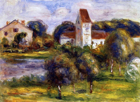 Pierre Auguste Renoir Breton Landscape - Church and Orchard - Hand Painted Oil Painting