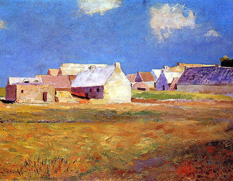 Odilon Redon Breton Village - Hand Painted Oil Painting