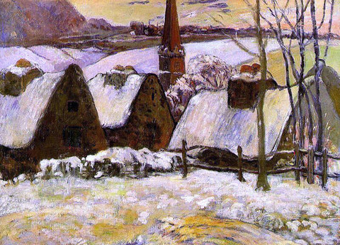 Paul Gauguin Breton Village in the Snow - Hand Painted Oil Painting