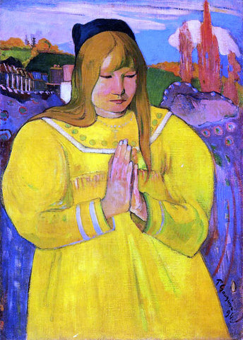 Paul Gauguin Breton Woman in Prayer - Hand Painted Oil Painting