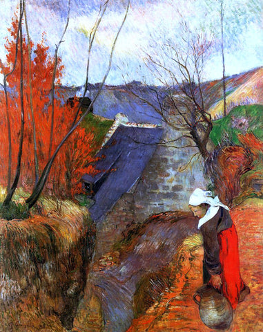 Paul Gauguin Breton Woman with Pitcher - Hand Painted Oil Painting