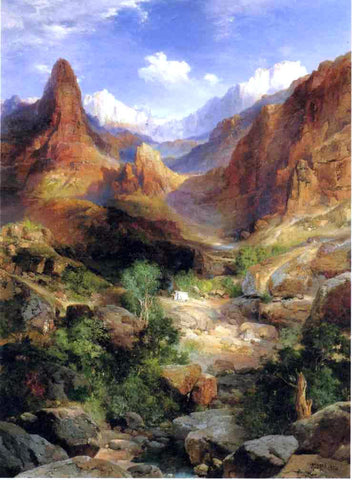 Thomas Moran Bright Angel Trail - Hand Painted Oil Painting
