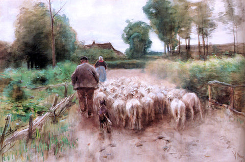 Anton Mauve Bringing Home The Flock - Hand Painted Oil Painting