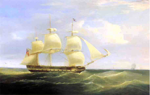 William John Huggins British Sailing Ship - Hand Painted Oil Painting