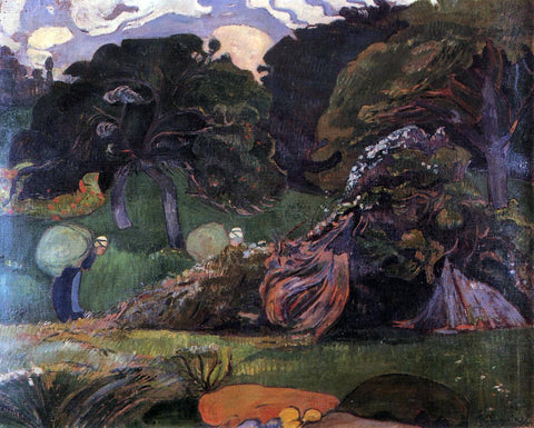 Paul Gauguin Brittany Landscape - Hand Painted Oil Painting