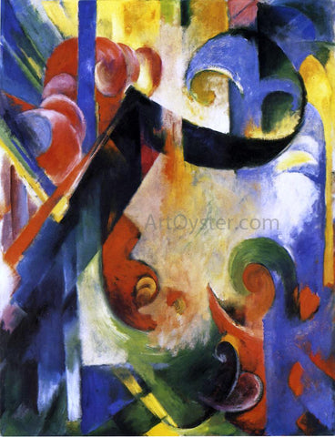 Franz Marc Broken Forms - Hand Painted Oil Painting