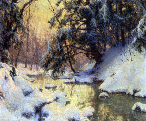 Walter Launt Palmer Brook and Hemlocks - Hand Painted Oil Painting