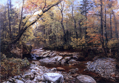 John Lee Fitch Brook in Autumn, Keene Valley, Adirondacks - Hand Painted Oil Painting
