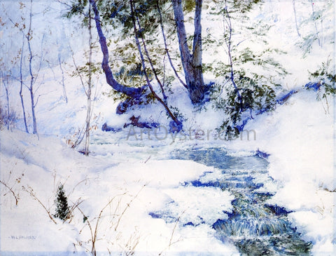Walter Launt Palmer Brook in Winter - Hand Painted Oil Painting
