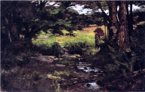 Theodore Clement Steele Brook in Woods - Hand Painted Oil Painting