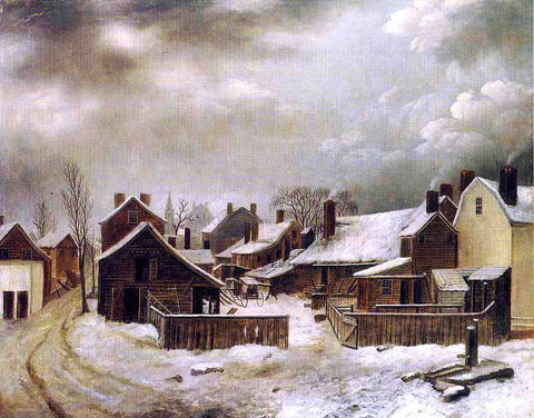 Seymour Joseph Guy Brooklyn in Winter - Hand Painted Oil Painting