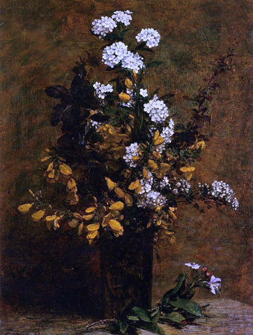 Henri Fantin-Latour Broom and Other Spring Flowers in a Vase - Hand Painted Oil Painting