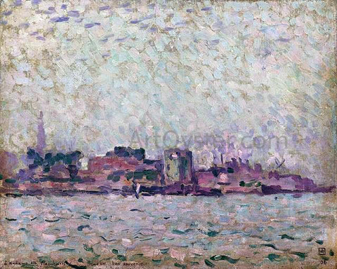 Theo Van Rysselberghe Brume matinal sur le port de Veere - Hand Painted Oil Painting