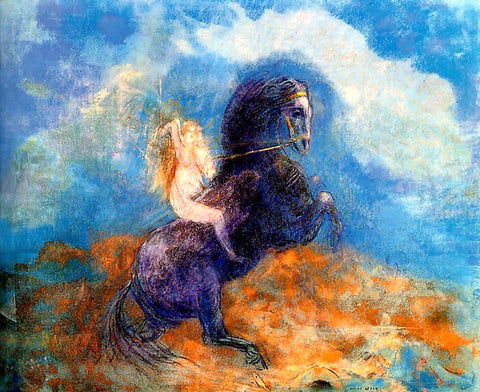 Odilon Redon Brunhild (also known as The Valkyrie) - Hand Painted Oil Painting