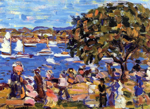 Maurice Prendergast Buck's Harbor - Hand Painted Oil Painting