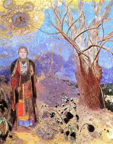 Odilon Redon Buddah - Hand Painted Oil Painting