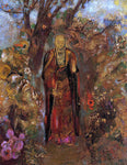 Odilon Redon Buddah Walking among the Flowers - Hand Painted Oil Painting