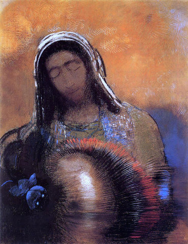 Odilon Redon Buddha - Hand Painted Oil Painting