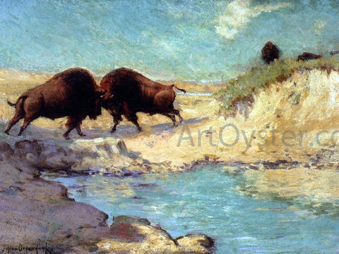 Julian Onderdonk Buffalo Hunt # 10 - Hand Painted Oil Painting