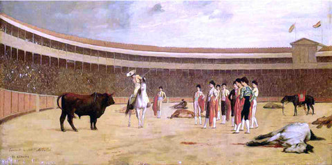 Jean-Leon Gerome Bull and Picador - Hand Painted Oil Painting
