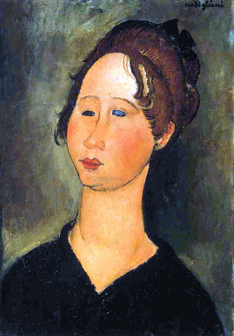 Amedeo Modigliani A Burgundian Woman - Hand Painted Oil Painting