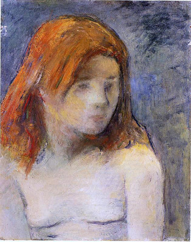 Paul Gauguin Bust of a Nude Girl - Hand Painted Oil Painting