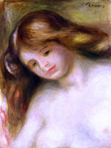 Pierre Auguste Renoir Bust of a Young Nude - Hand Painted Oil Painting