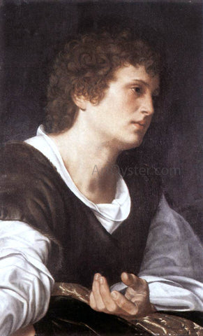 Giovanni Girolamo Savoldo Bust of a Youth - Hand Painted Oil Painting