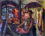 Lovis Corinth Butcher's Shop at Schaftlarn an der Isar - Hand Painted Oil Painting