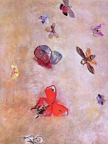 Odilon Redon Butterflies - Hand Painted Oil Painting