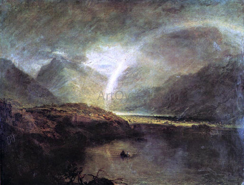 Joseph William Turner Buttermere Lake, with Park of Cromackwater, Cumberland, a Shower - Hand Painted Oil Painting