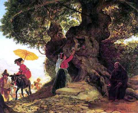 Karl Pavlovich Brulloff By the Bogoroditsky Oak - Hand Painted Oil Painting