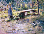 Theodore Robinson By the Brook - Hand Painted Oil Painting