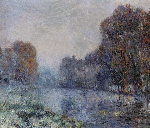 Gustave Loiseau By the Eure River - Hoarfrost - Hand Painted Oil Painting