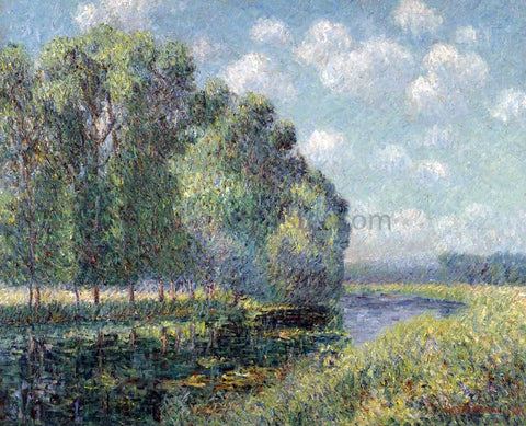 Gustave Loiseau By the Eure River in Spring - Hand Painted Oil Painting