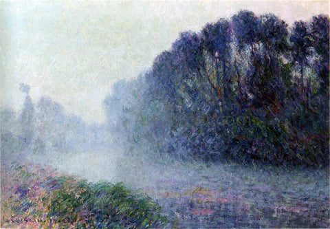 Gustave Loiseau By the Eure River - Mist Effect - Hand Painted Oil Painting
