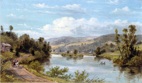 William Rickarby Miller By the Lake - Hand Painted Oil Painting