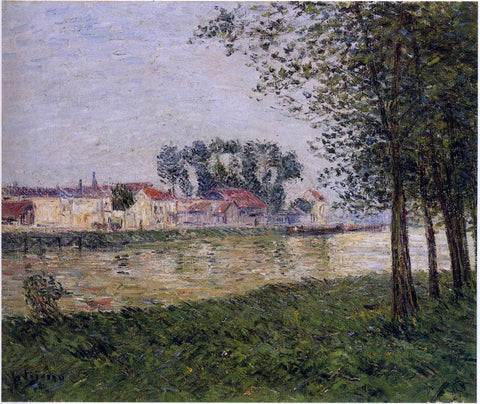 Gustave Loiseau By the Oise at Parmain - Hand Painted Oil Painting