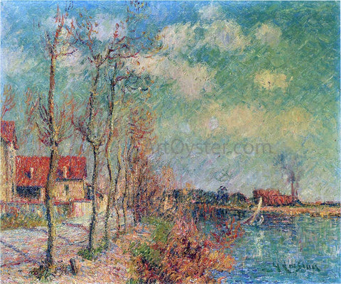 Gustave Loiseau By the Oise River - Hand Painted Oil Painting