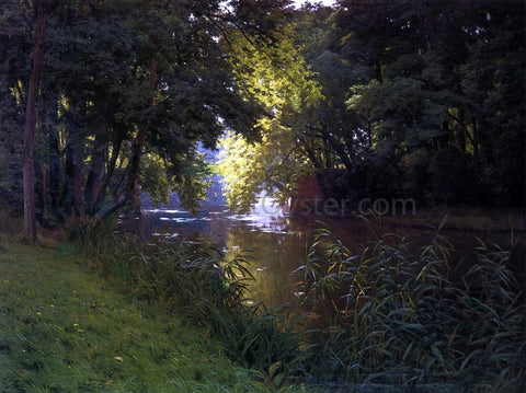 Henri Biva By the River - Hand Painted Oil Painting